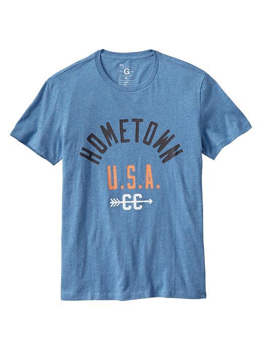 Gap Hometown Usa T Shirt In Blue For Men Blue Denim