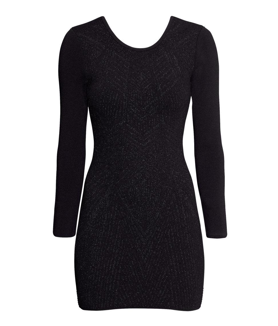 H&m Jacquard-knit Dress Lyst
