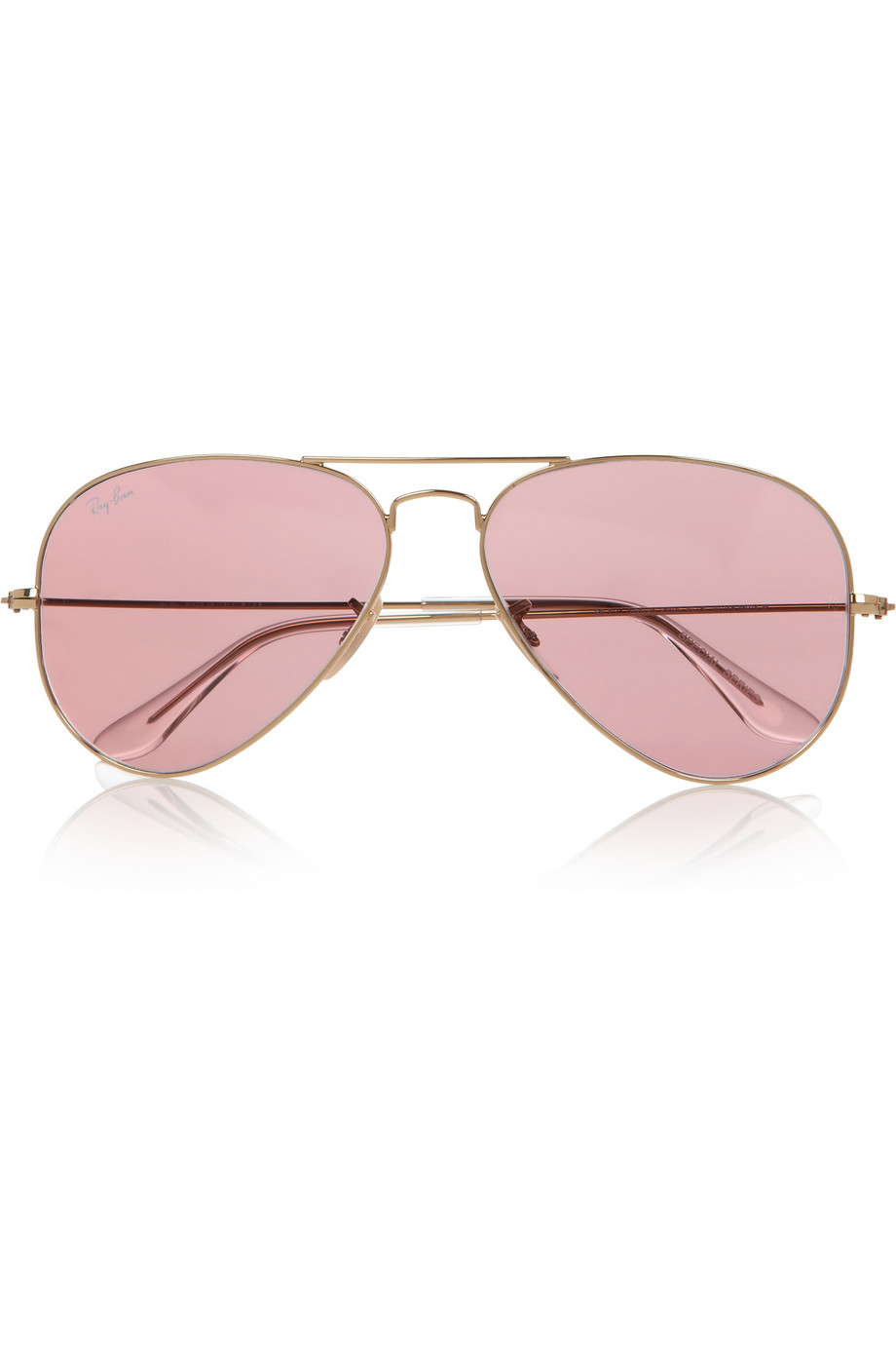 lyst ray ban aviator mirrored metal sunglasses in pink. Black Bedroom Furniture Sets. Home Design Ideas