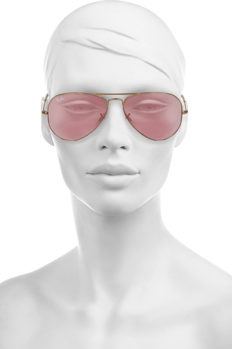 Maui Jim Warranty >> Ray-Ban Aviator Mirrored Metal Sunglasses in Pink - Lyst
