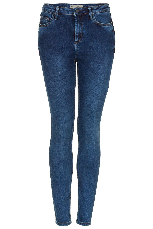 topshop petite moto blue jamie jeans in blue lyst. Black Bedroom Furniture Sets. Home Design Ideas