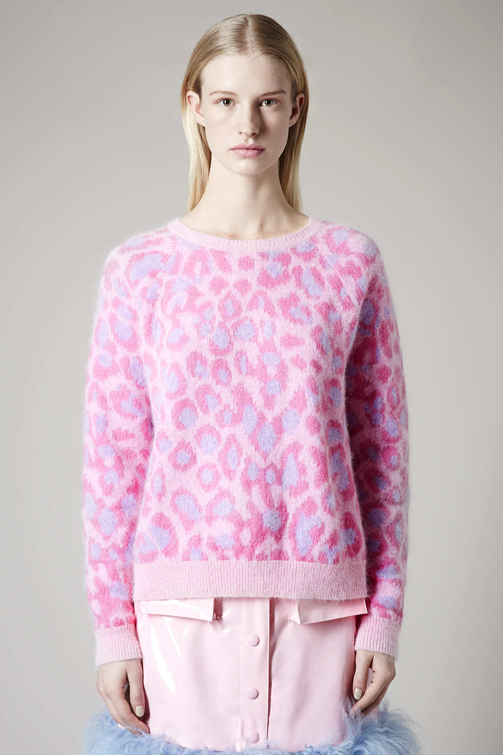 Pink Leopard Print Sweater | Dress images