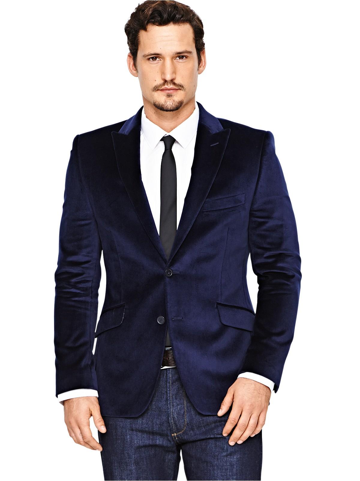 Lambretta Velvet Jacket In Blue For Men (navy) | Lyst