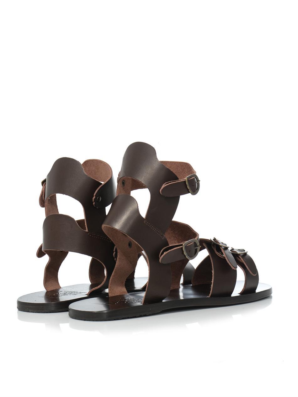 fe1987e0544b Lyst ancient greek sandals achilles leather sandals in brown for men jpg  950x1267 Grecian sandals mens