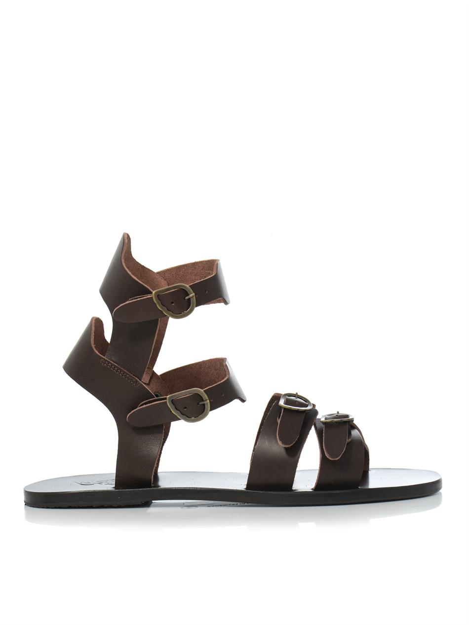Ancient Greek Sandals Achilles Leather Sandals In Brown Lyst