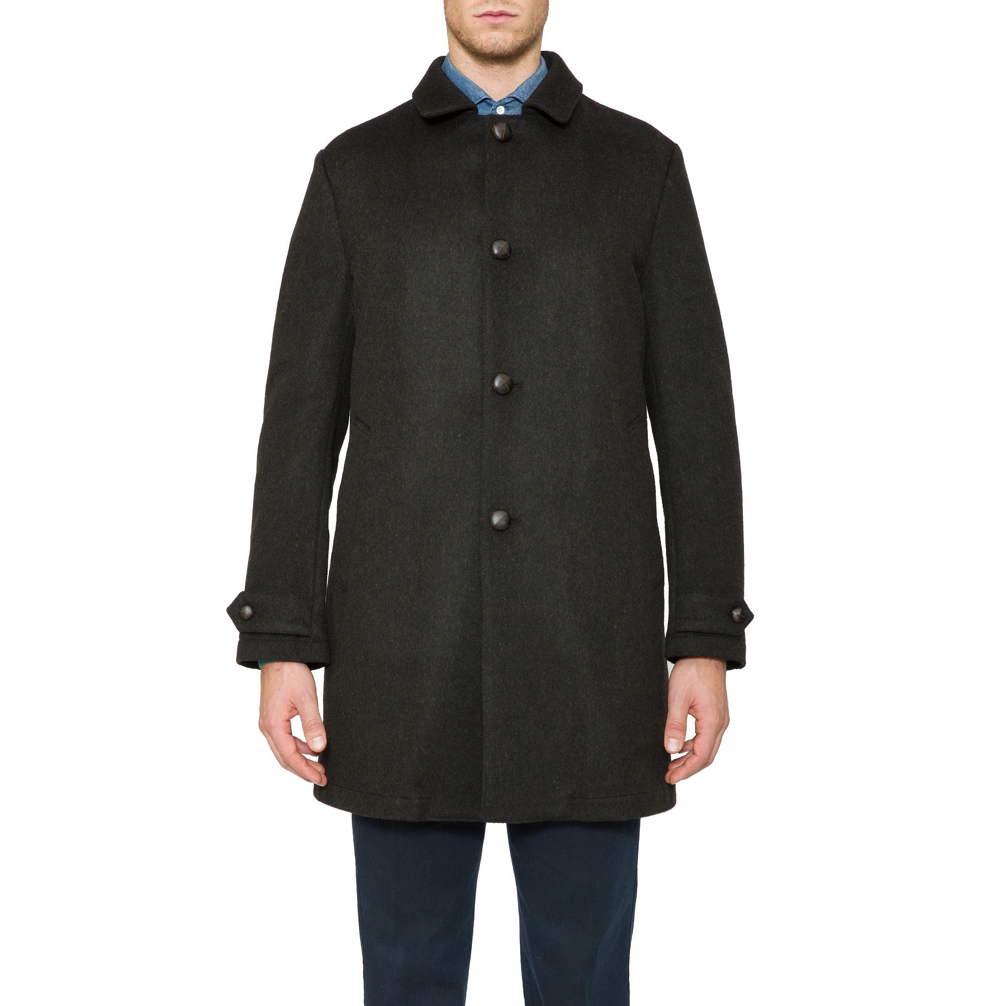 Aspesi Loden Wool Perfetto Coat In Dark Green Green For