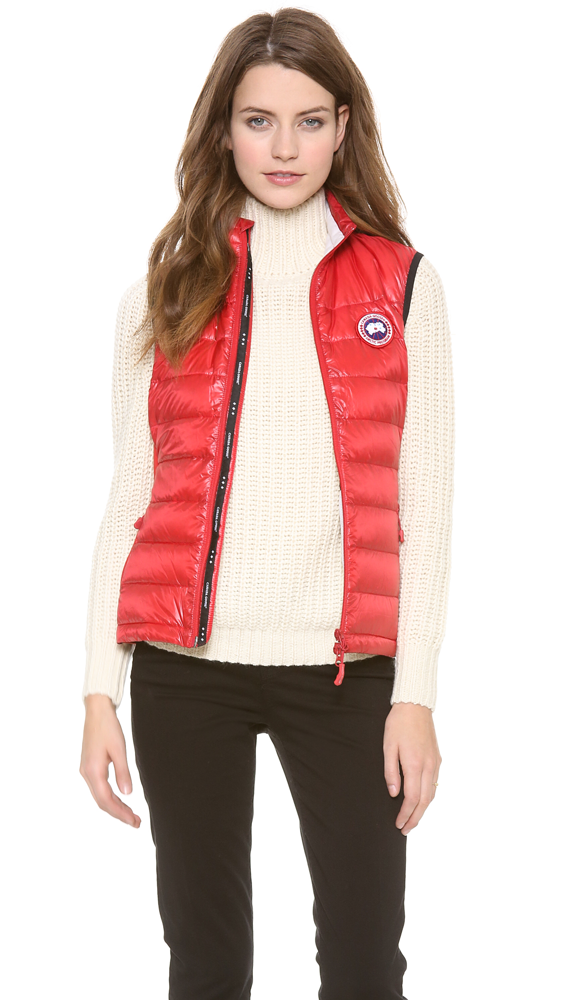 b7bc85f641c ... france lyst canada goose hybridge lite vest in red 6a063 7387f