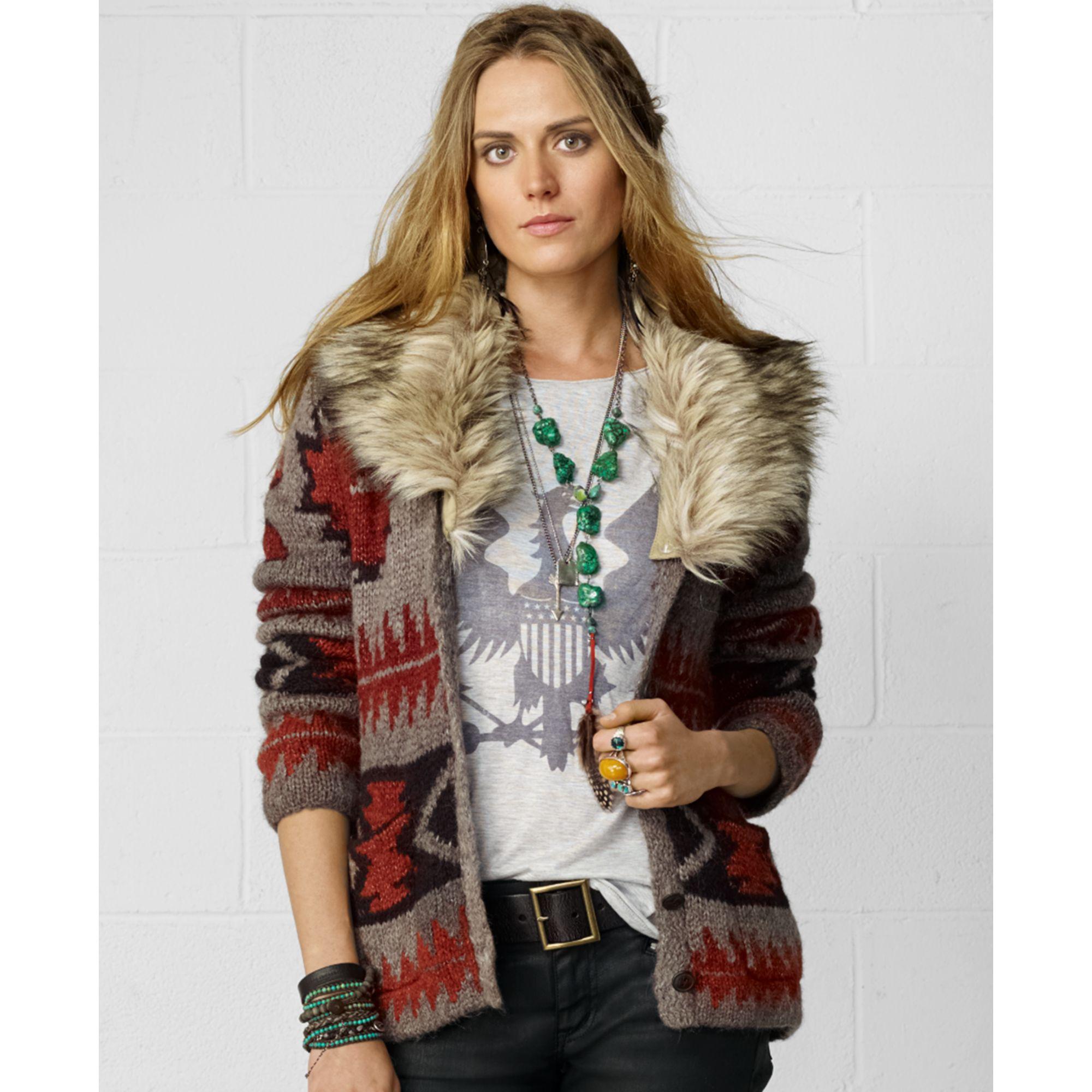 Romwe Grey V Neckline Fur Cuff Sweaters Women Casual