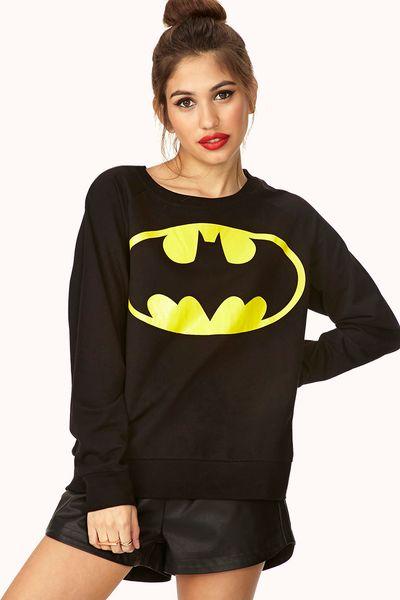 Forever 21 classic batman sweatshirt in black black yellow lyst