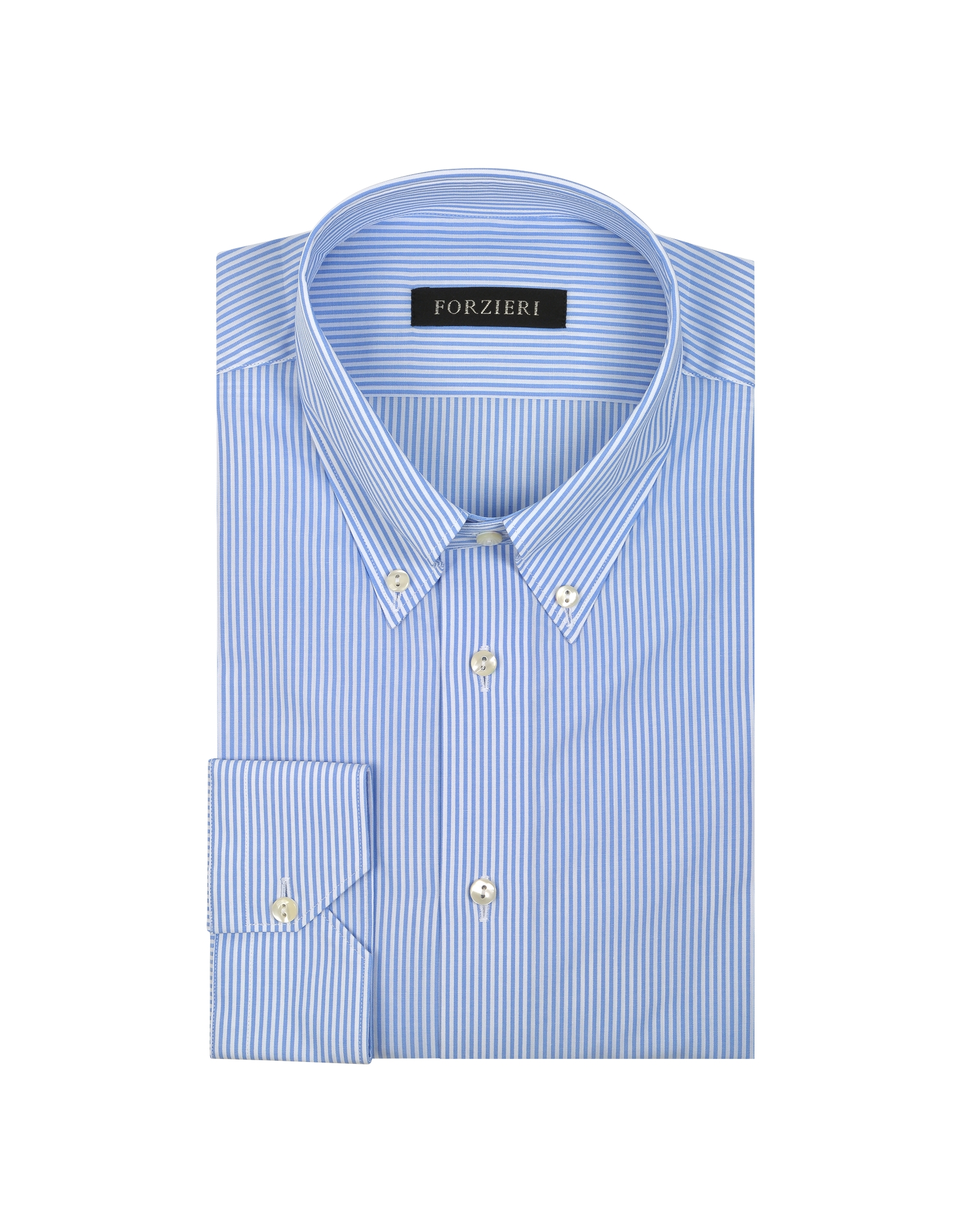 Lyst forzieri light blue striped non iron cotton dress for White non iron dress shirts