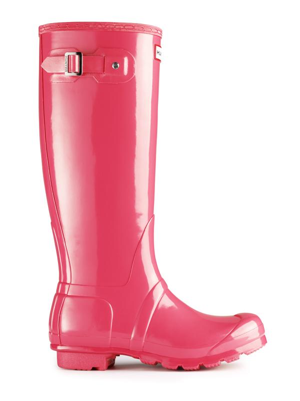 Hunter Original Tall Gloss Rain Boot in Pink for Men | Lyst