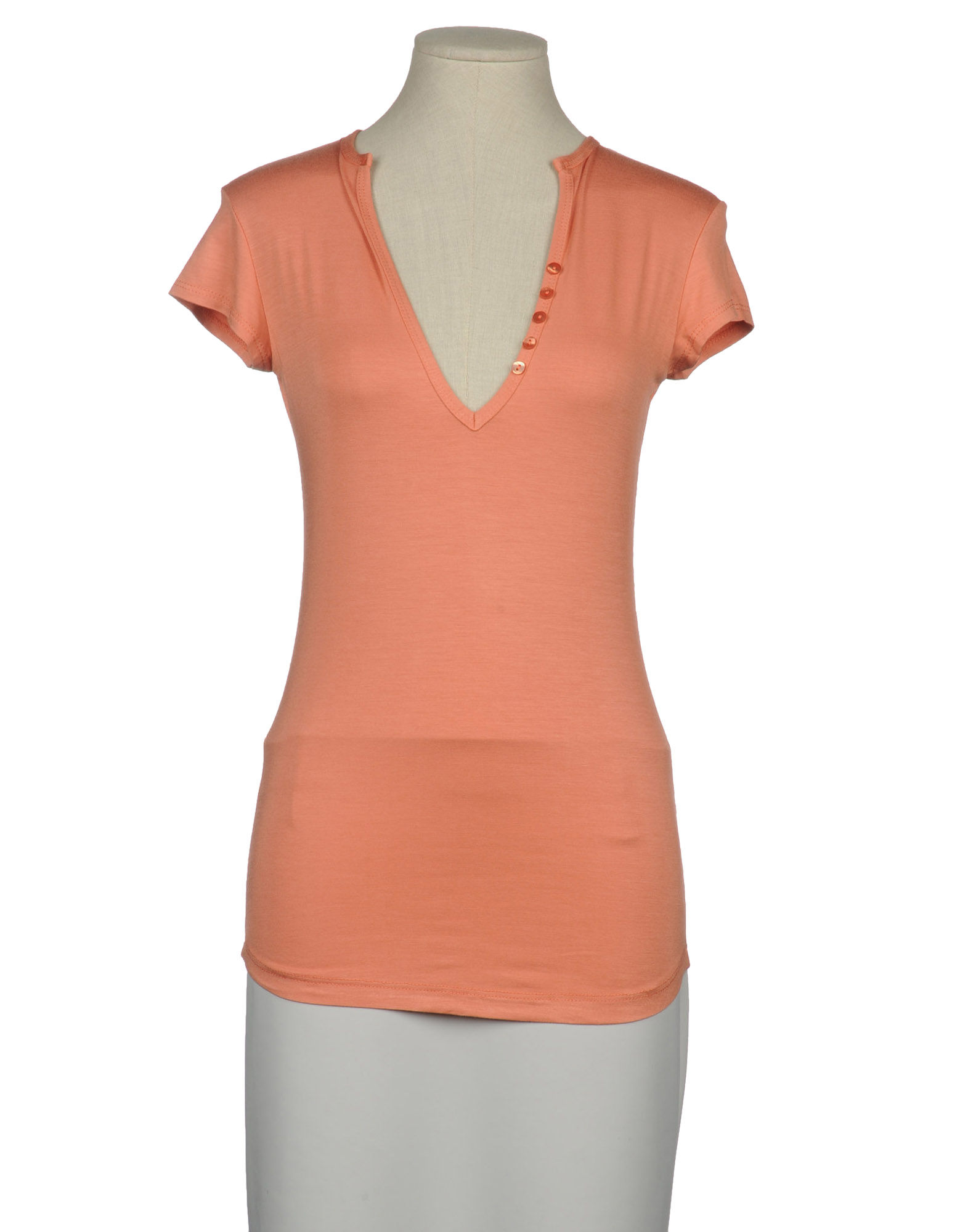 Imperial short sleeve t shirt in pink pastel pink lyst for Pastel pink dress shirt