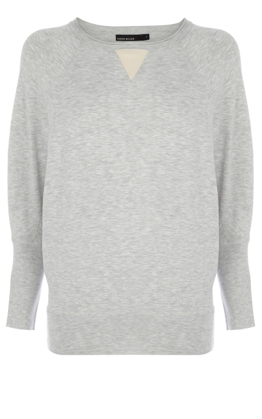 Karen Millen Modern Knit Basic Jumper in Gray (Grey) Lyst