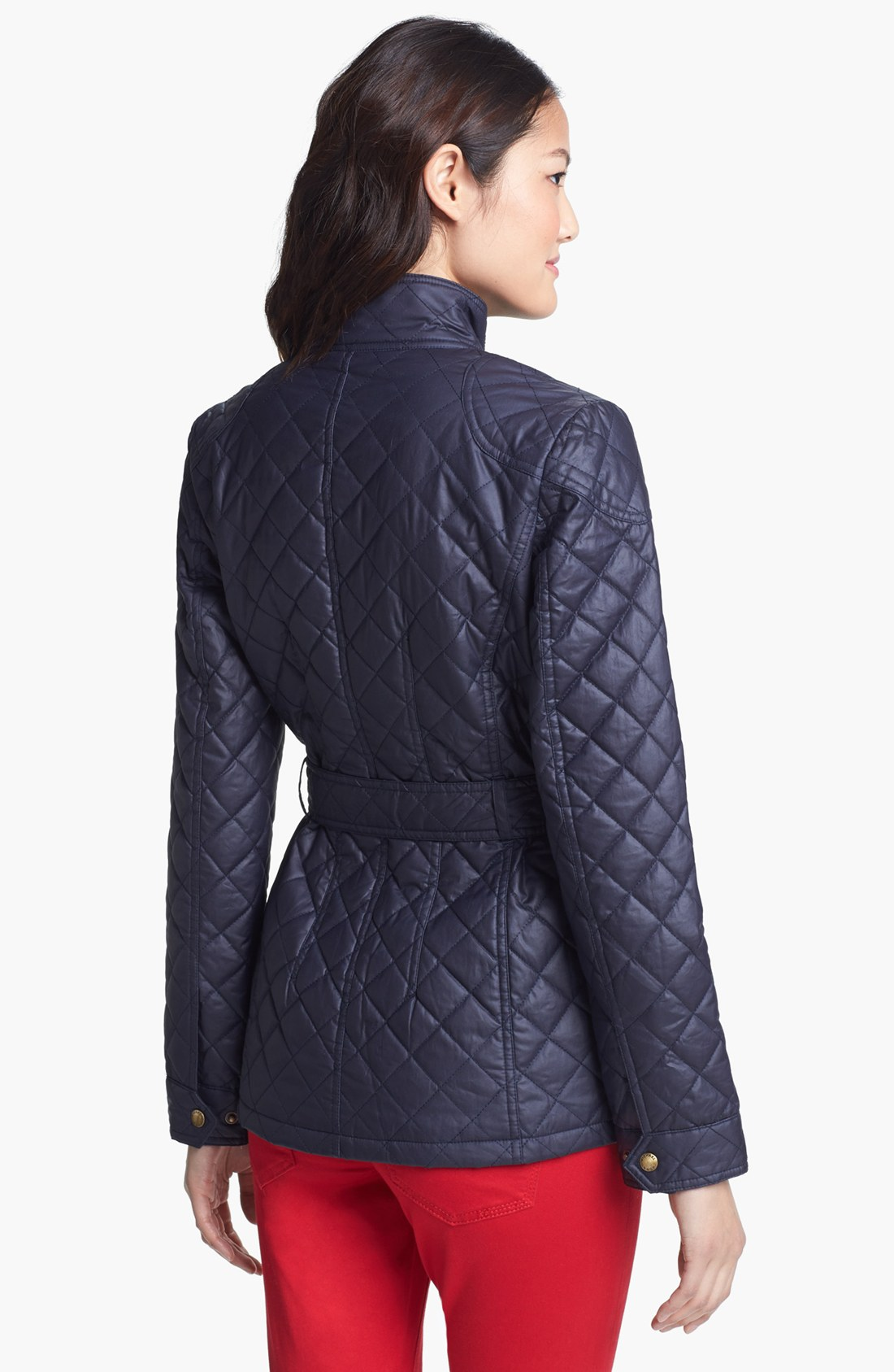 michael michael kors quilted field jacket in blue dark. Black Bedroom Furniture Sets. Home Design Ideas