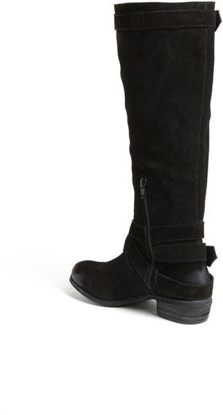 monkey suede boot in black lyst