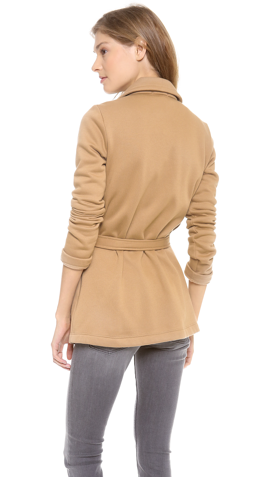 Splendid Seneca Fleece Car Coat in Natural | Lyst