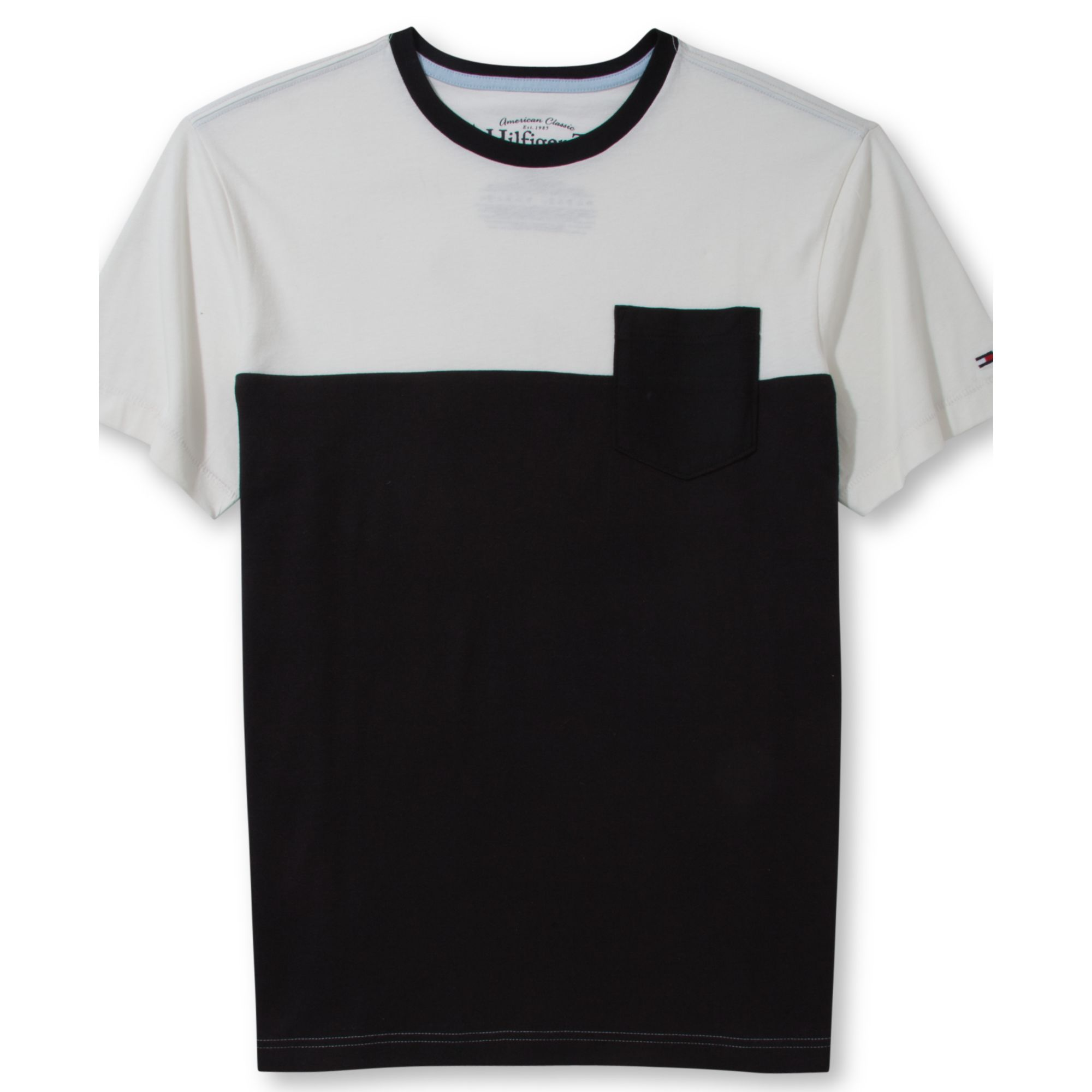 cb76adf5d51 Lyst - Tommy Hilfiger Black Kale Pocket Tshirt in White .