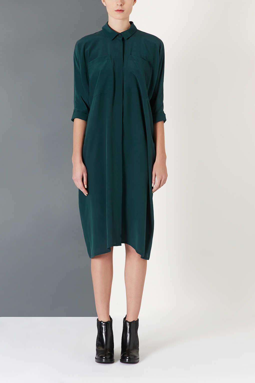 Elegant SheIn Women39s Dark Green Long Sleeve Casual TShirt Dress Large In