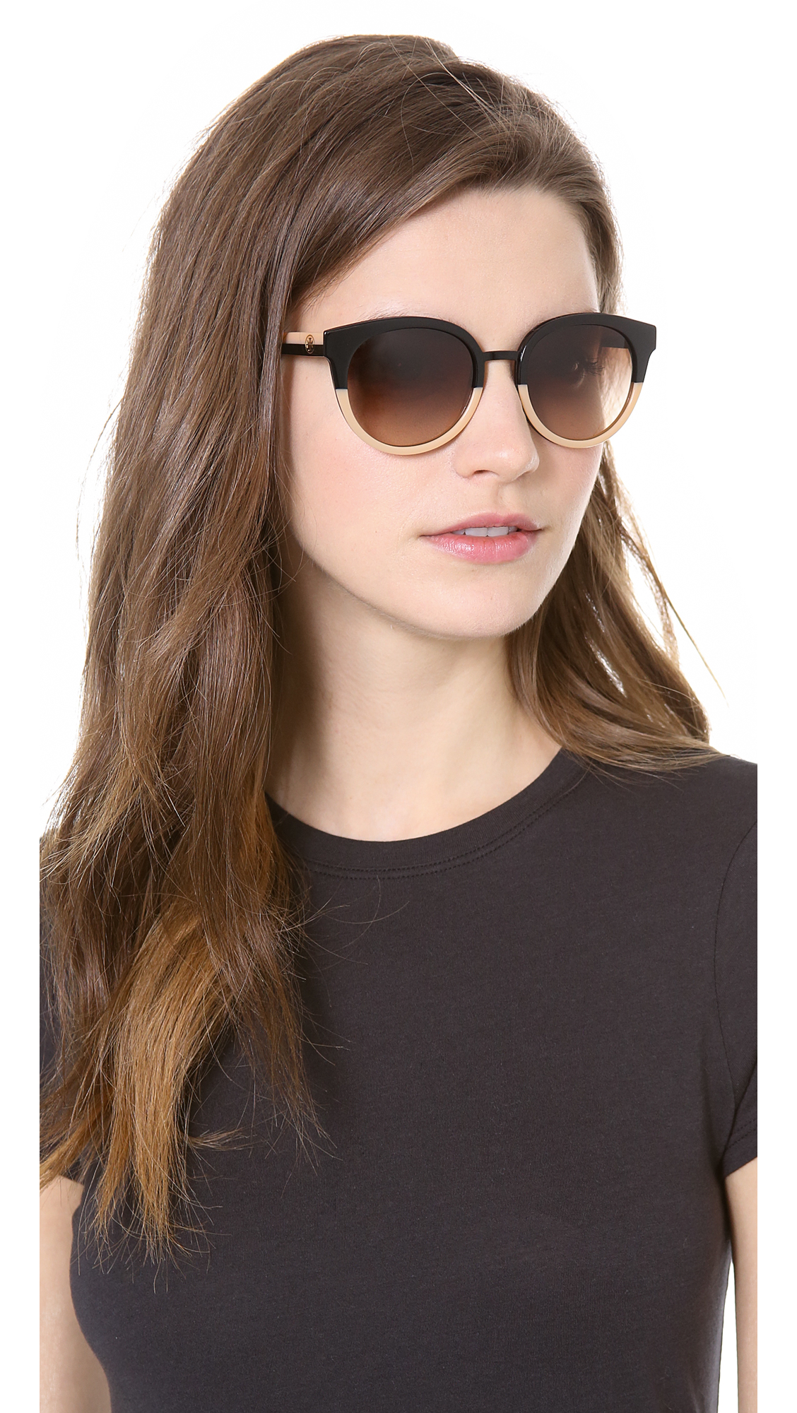 Lyst Tory Burch Eclectic Sunglasses In Black