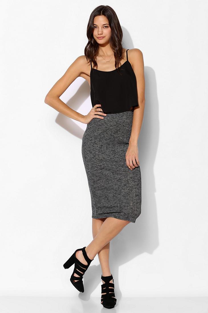 Knit Midi Skirt - Skirts