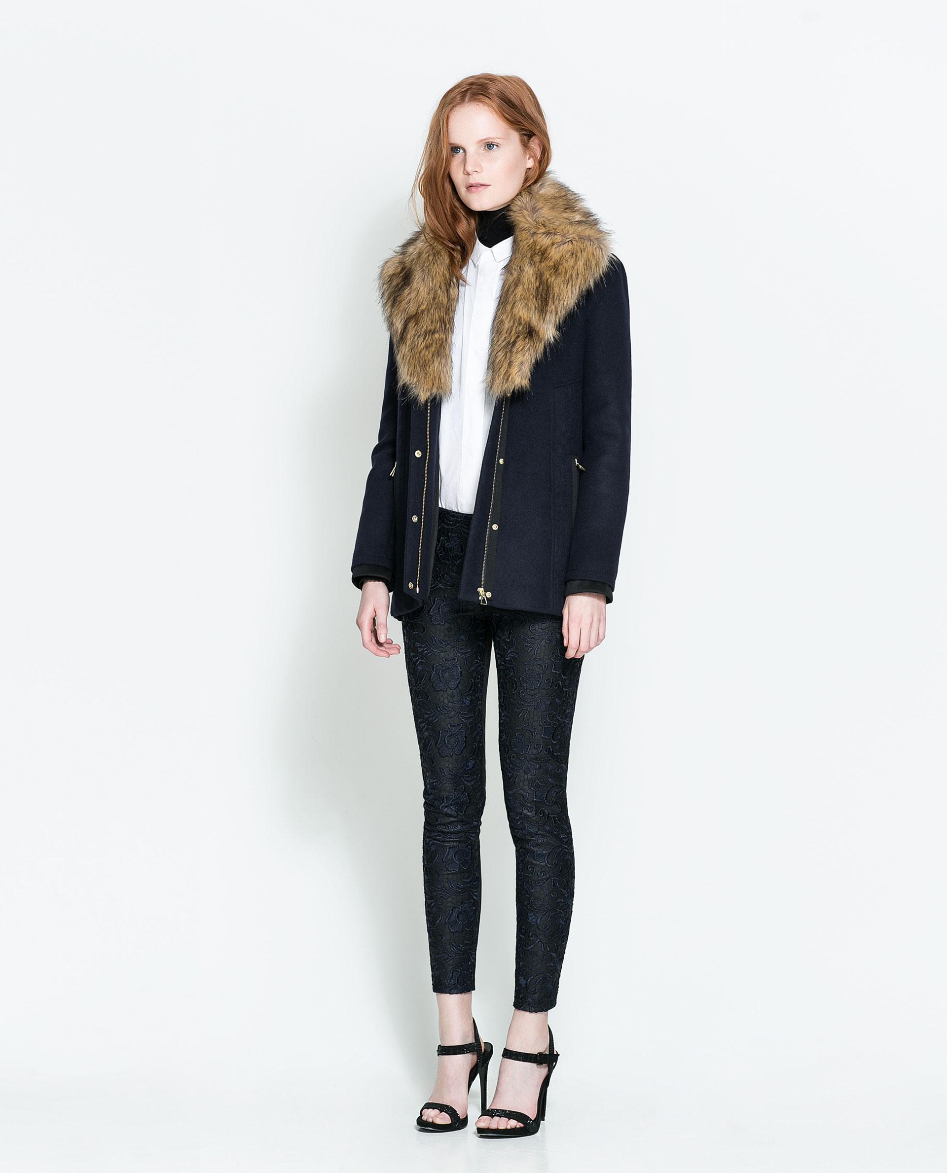 Zara Studio Black Fur Coat - Tradingbasis