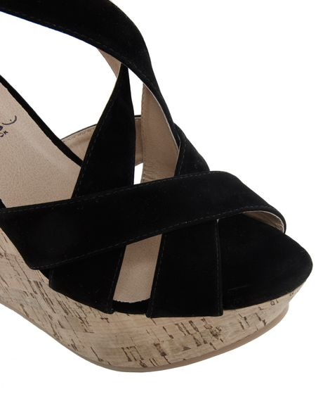 asos new look immense mega crossover heeled wedge sandals