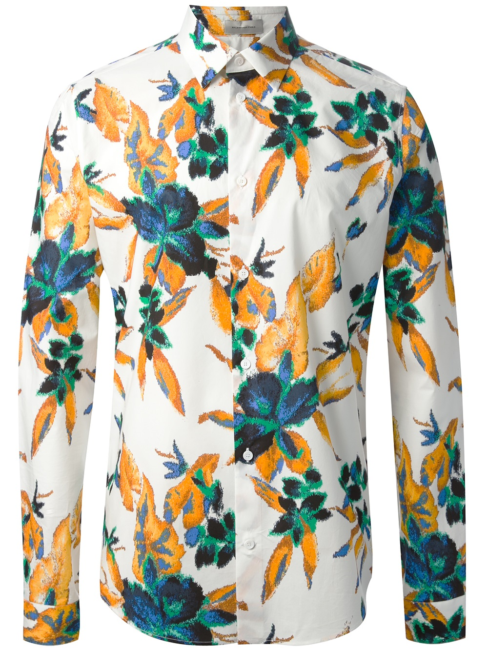 fe504d00b8dc Lyst - Balenciaga Floral Print Shirt for Men