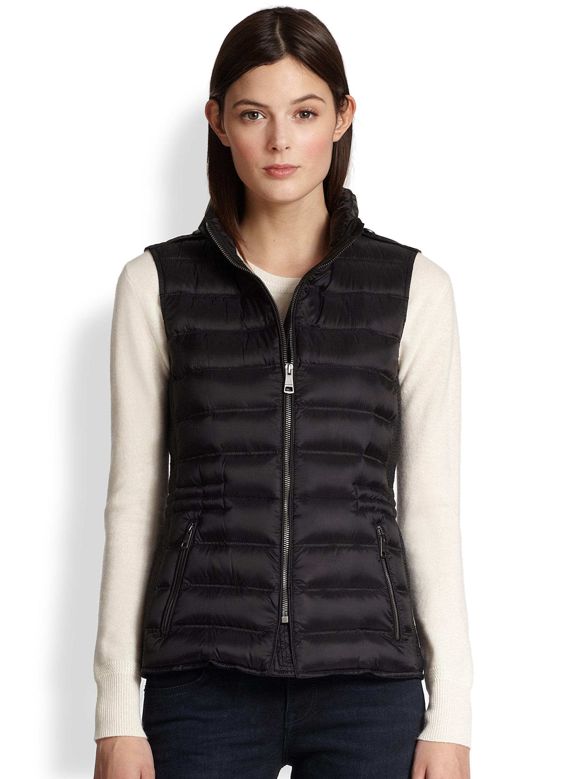 Lyst Burberry Brit Cranstead Puffer Vest In Black