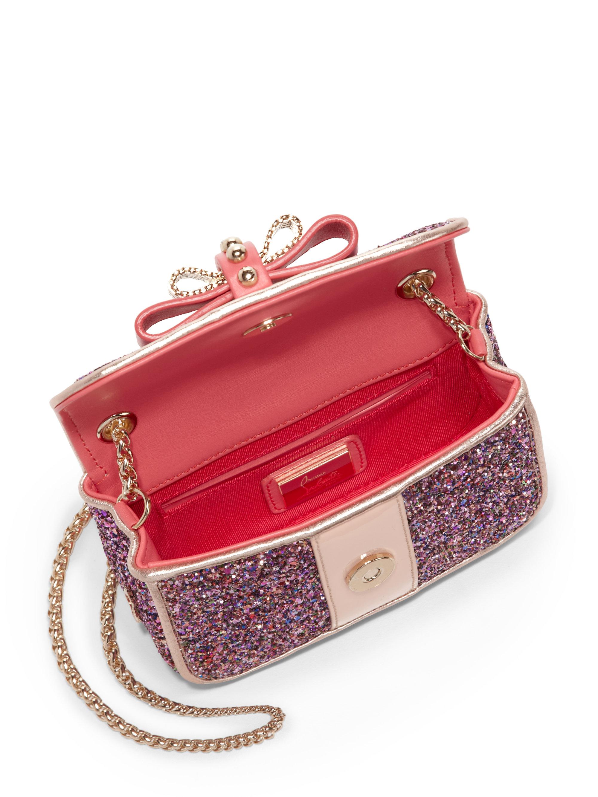 Sweet Charity rose gold shoulder bag Christian Louboutin ZE6WGAIytG