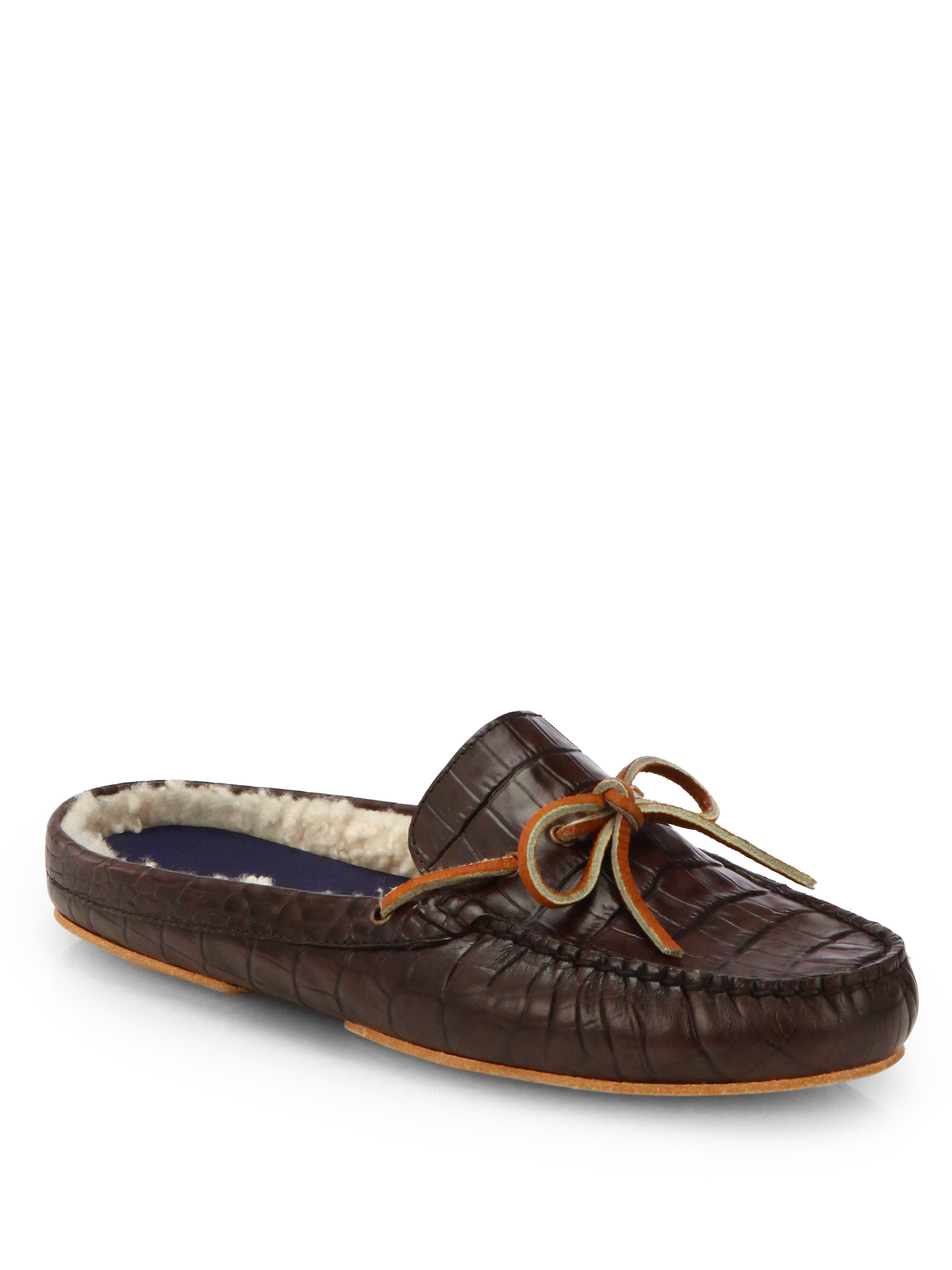 cole haan grant scuff slippers in brown for men chestnut lyst. Black Bedroom Furniture Sets. Home Design Ideas