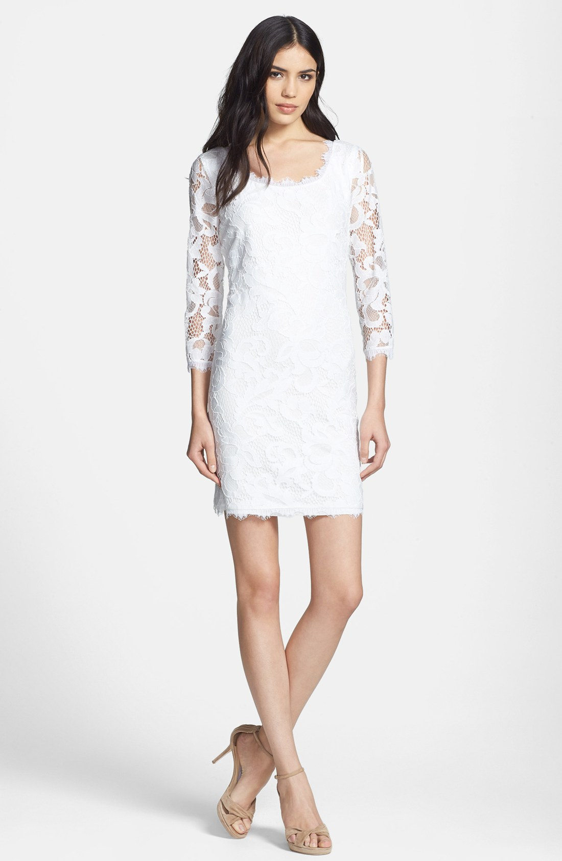 Dvf Zarita Lace Sheath Dress View Fullscreen