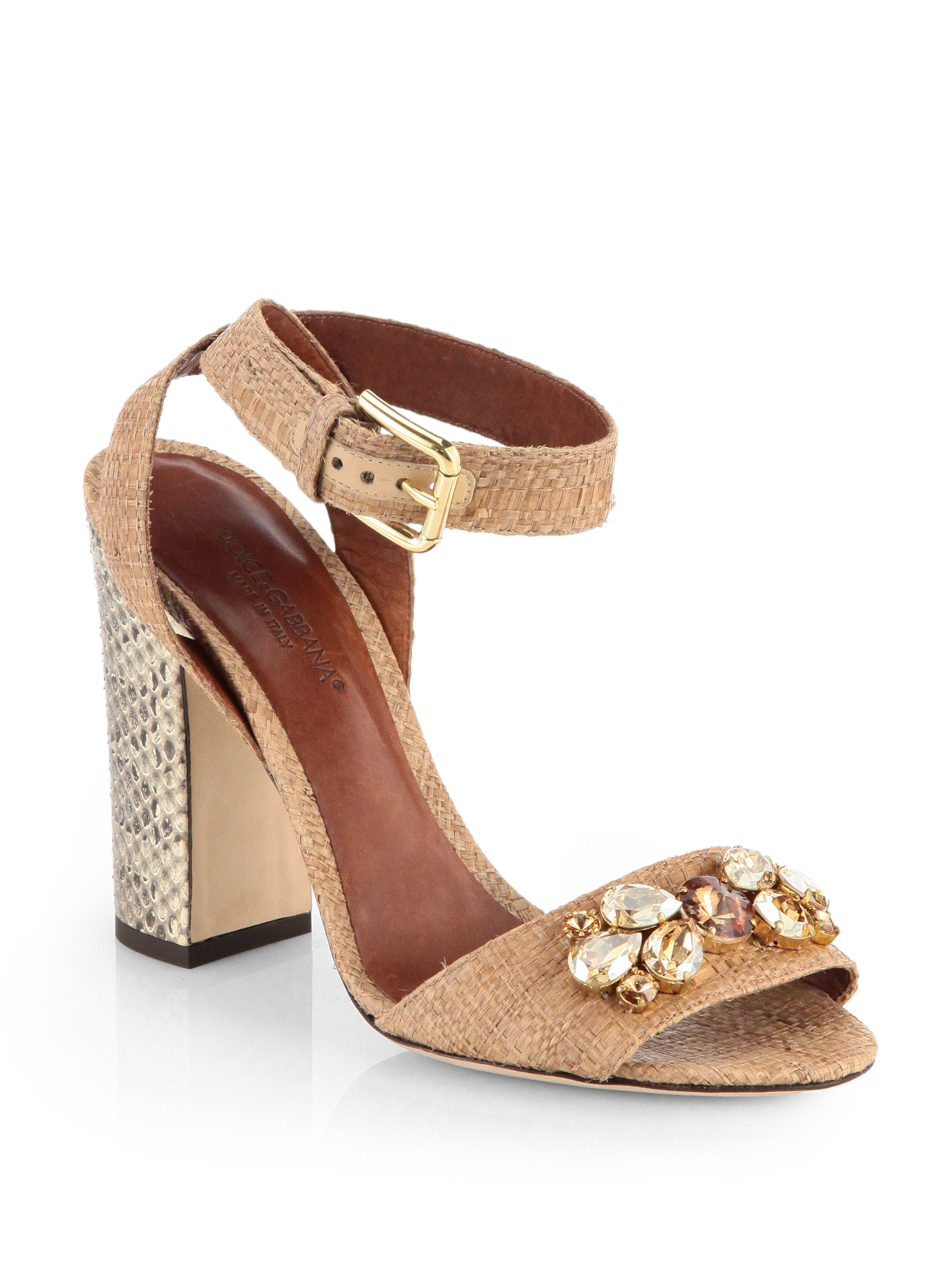 Dolce & Gabbana Bejeweled heel platform sandals 7JGGTAGQ