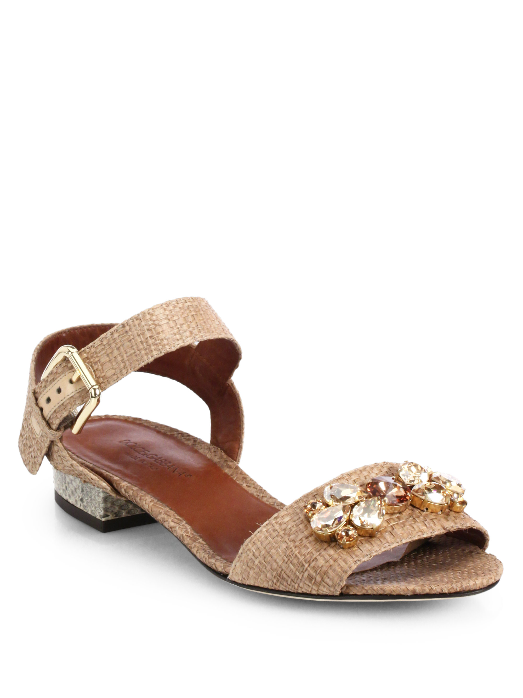 Snakeskin and leather slippers Dolce & Gabbana KIz7dPD6Mm