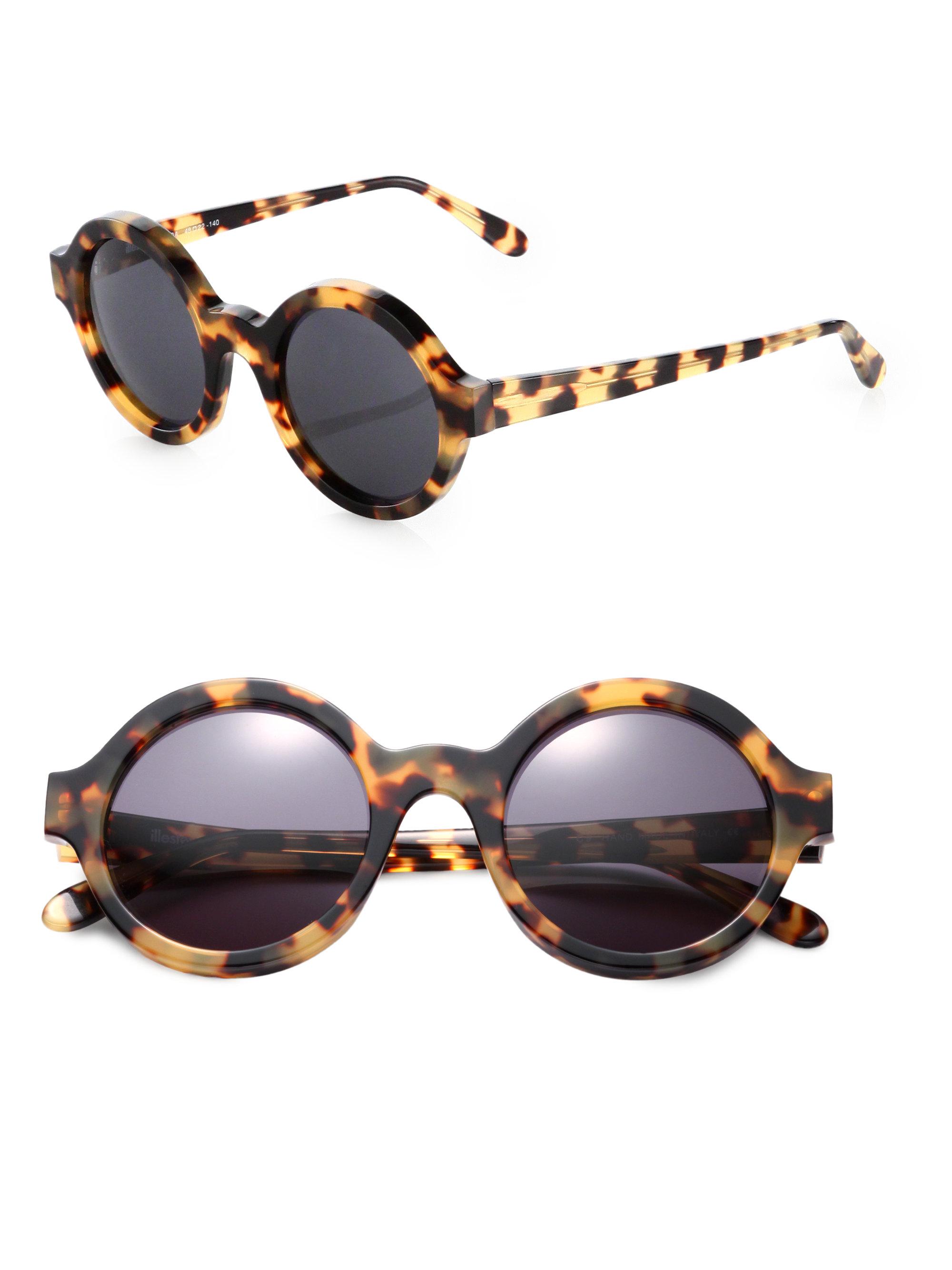 Illevesta Sunglasses  illesteva frieda round sunglasses in brown lyst