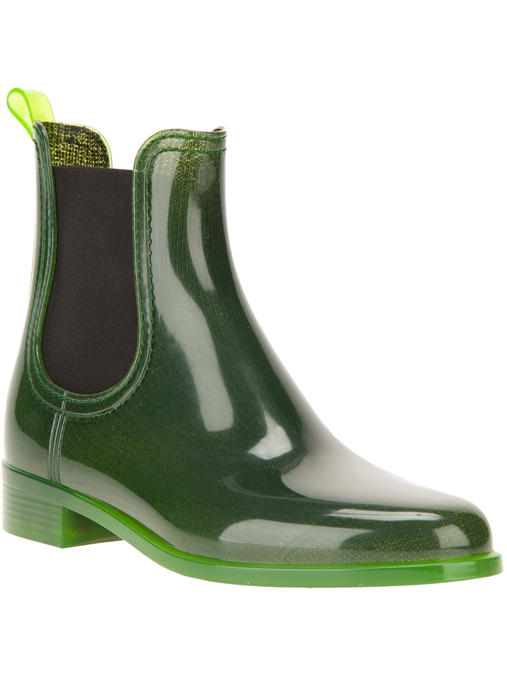 Jeffrey Campbell Chelsea Rain Boots In Green Lyst