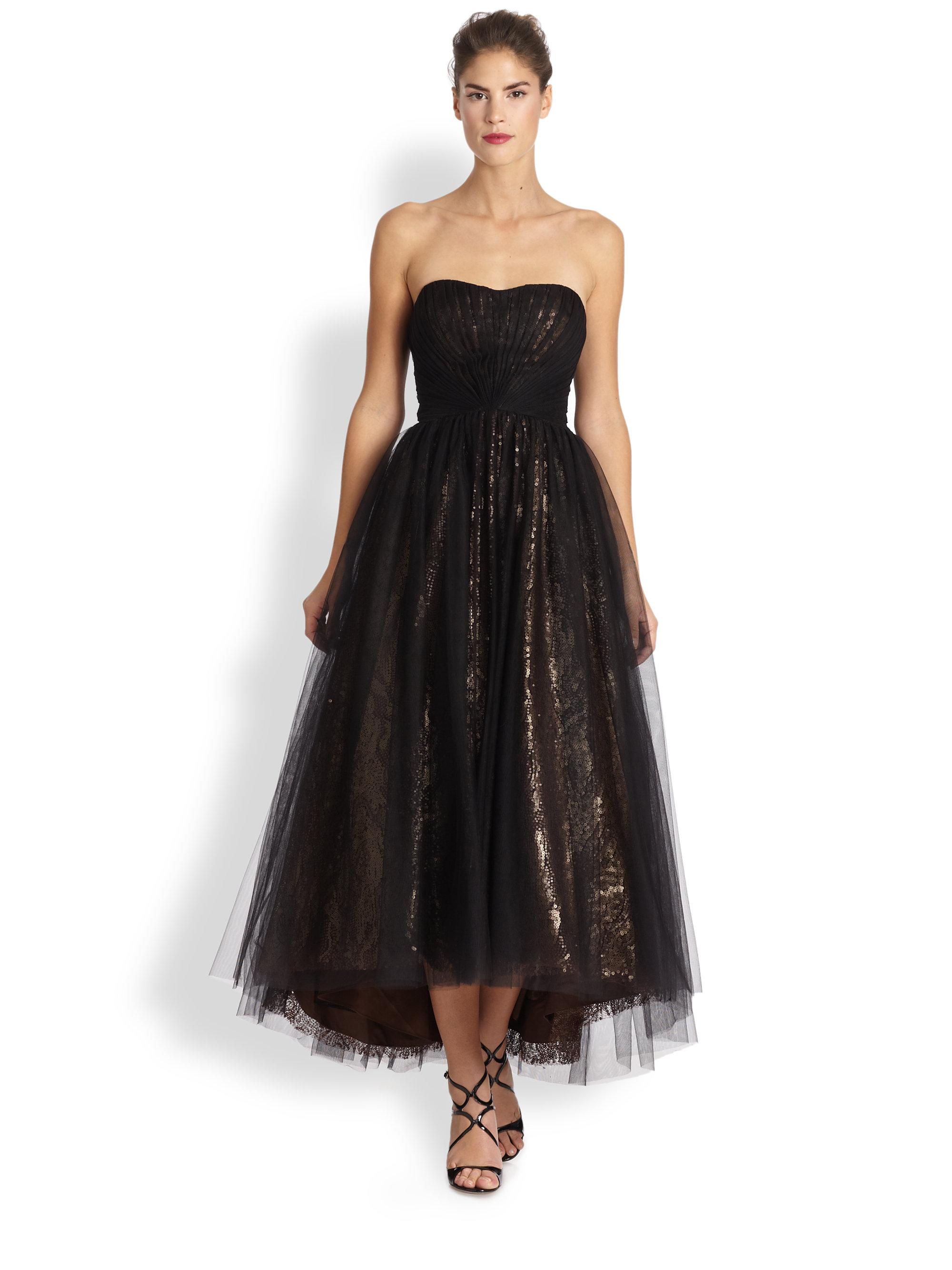 Ml monique lhuillier black dress