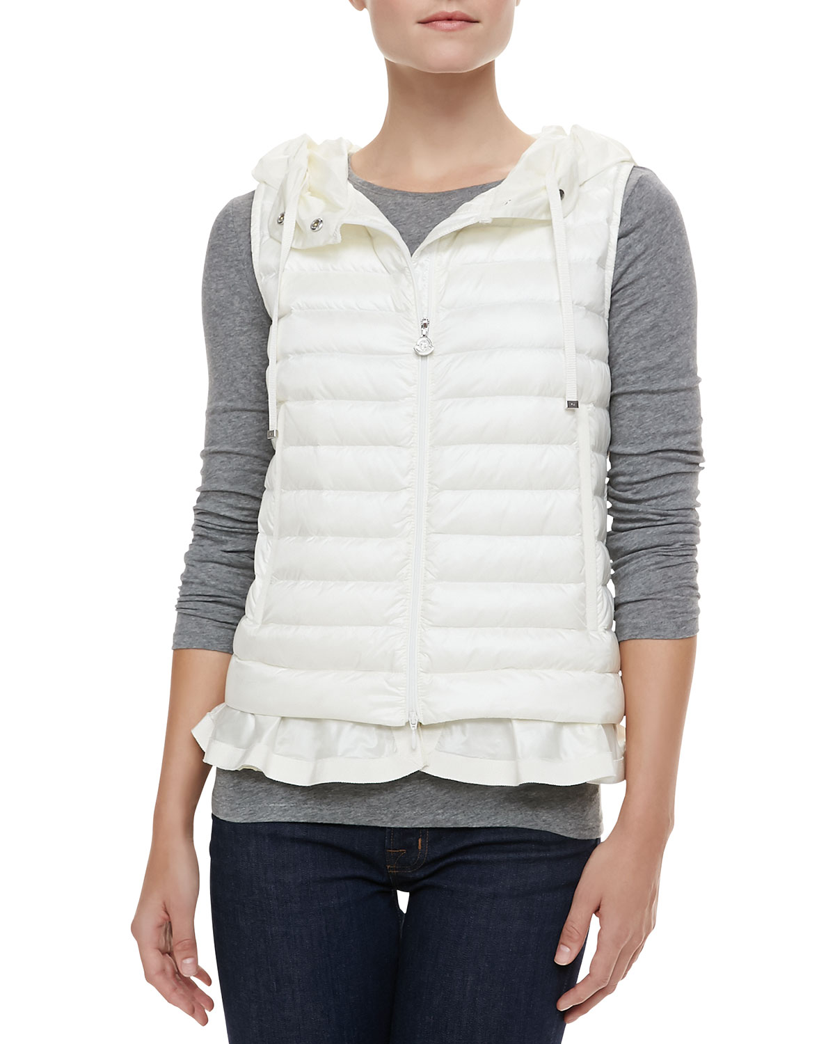 moncler Vests White