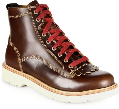 Timberland Abington Quarryville Leather Kiltie Boots in Brown for Men (WHEAT)   Lyst