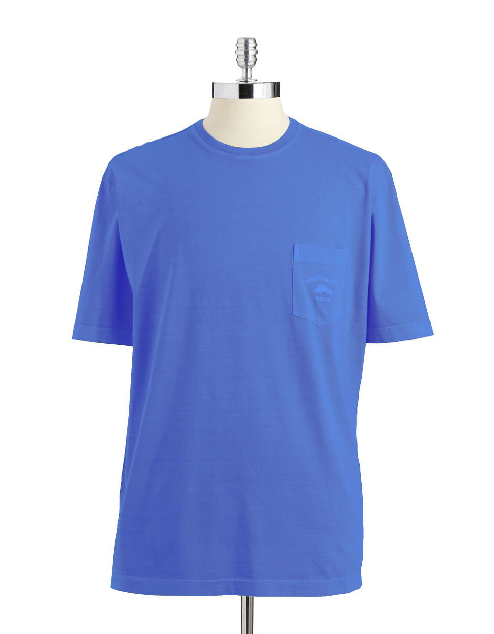Tommy Bahama Bahama Tide Pima Cotton Pocket Tshirt In Blue