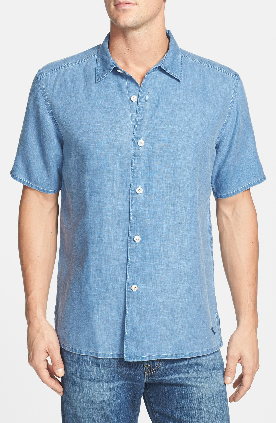 Tommy Bahama Sea Glass Sport Shirt In Blue For Men
