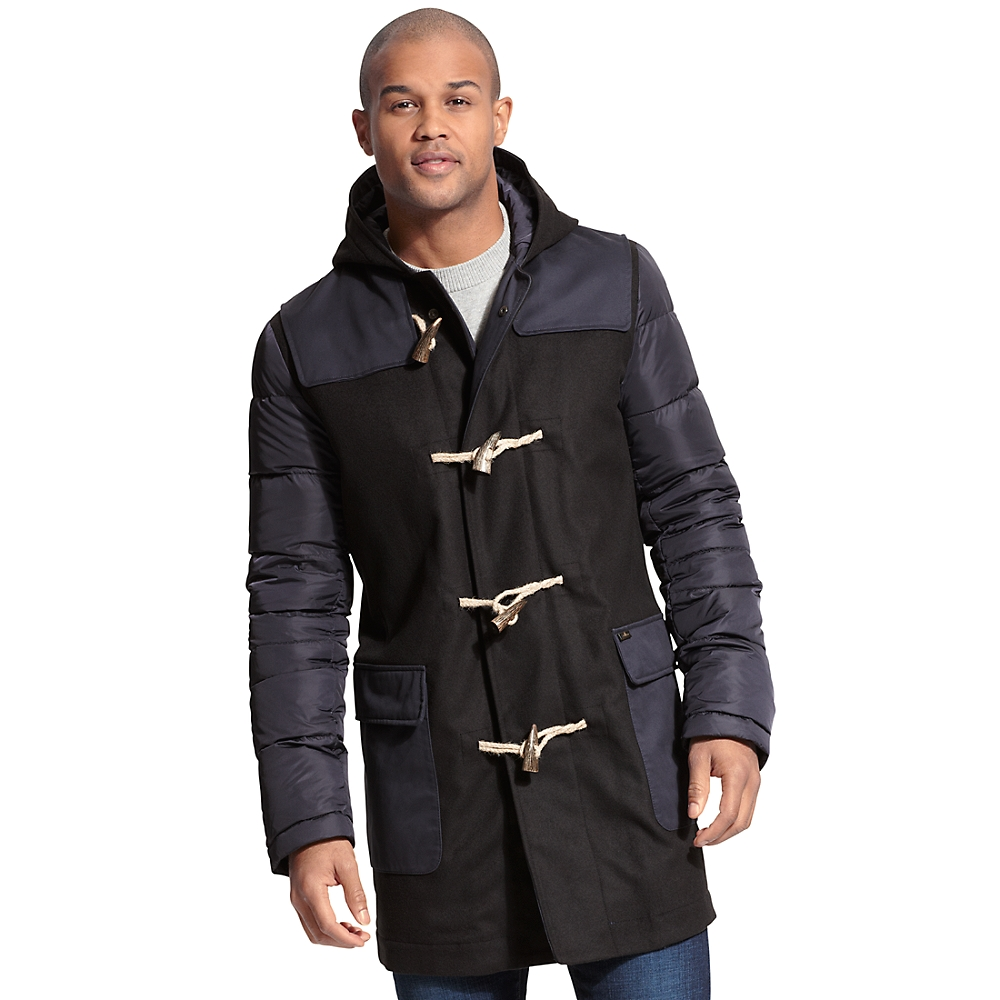 tommy hilfiger toggle duffle coat in black for men midnight lyst. Black Bedroom Furniture Sets. Home Design Ideas