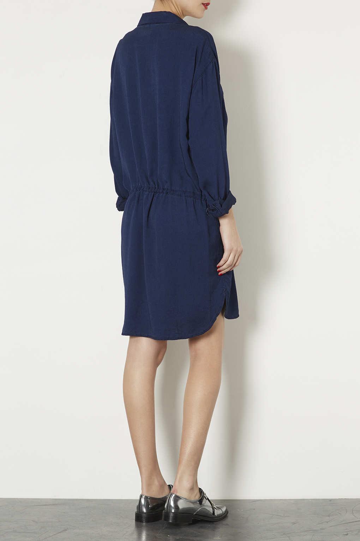 Lyst topshop maternity denim shirt dress in blue gallery ombrellifo Gallery