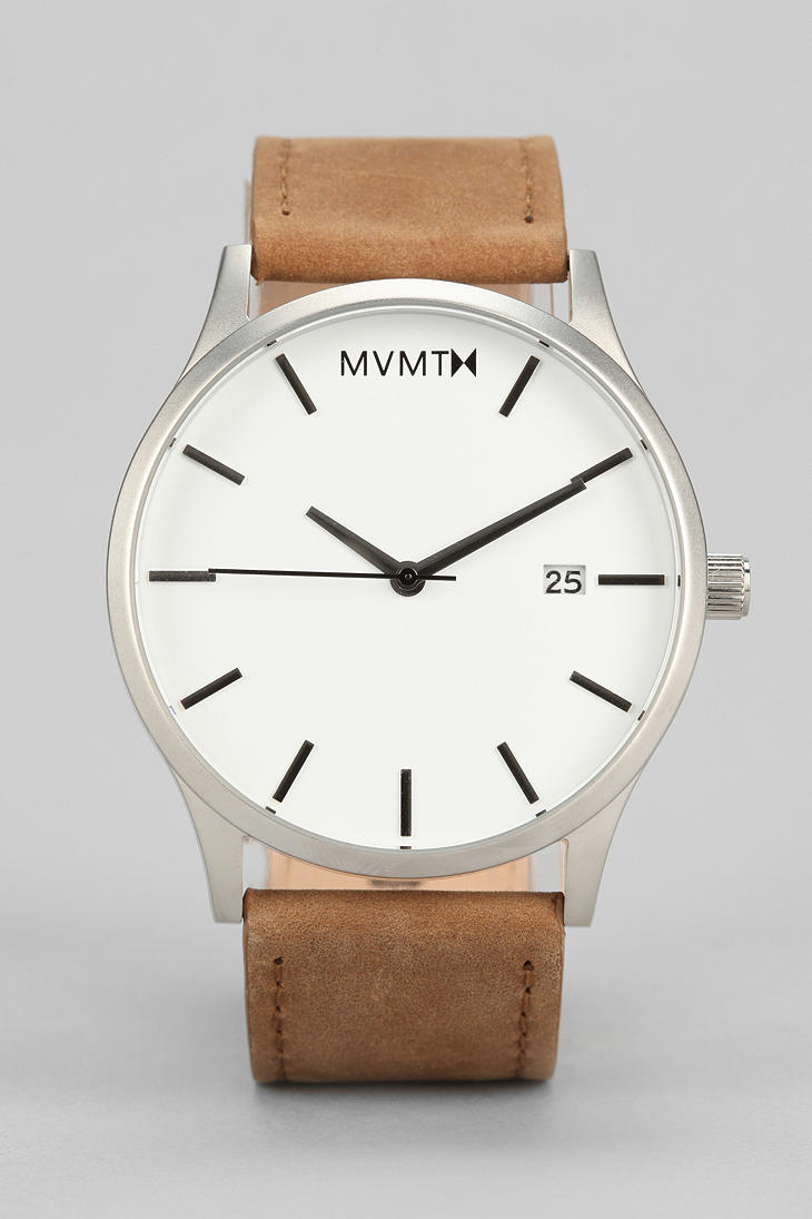 Mvmt classic leather watch in brown for men lyst for Mvmt watches