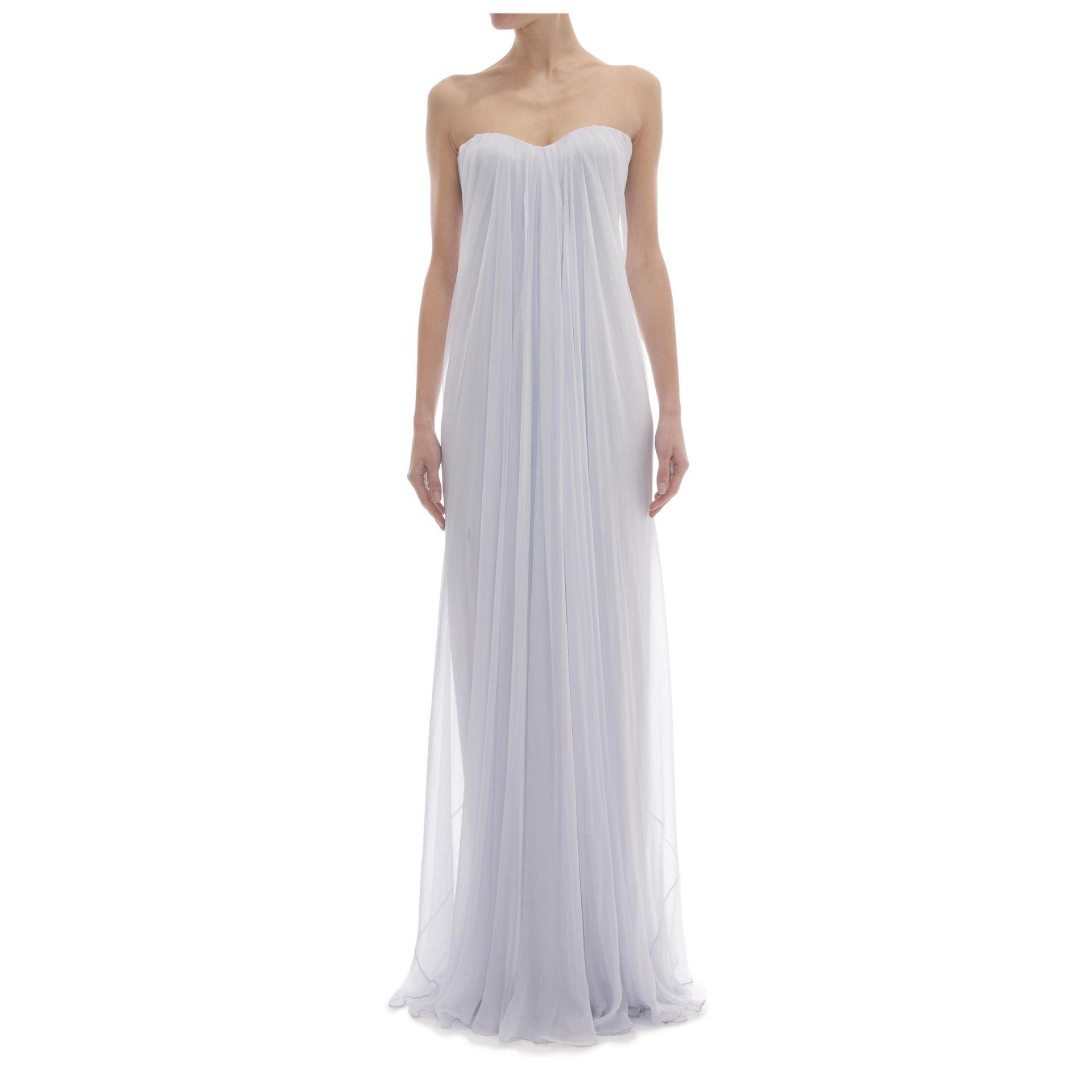 f14f1561801a5 Alexander McQueen Draped Bustier Gown in Blue - Lyst