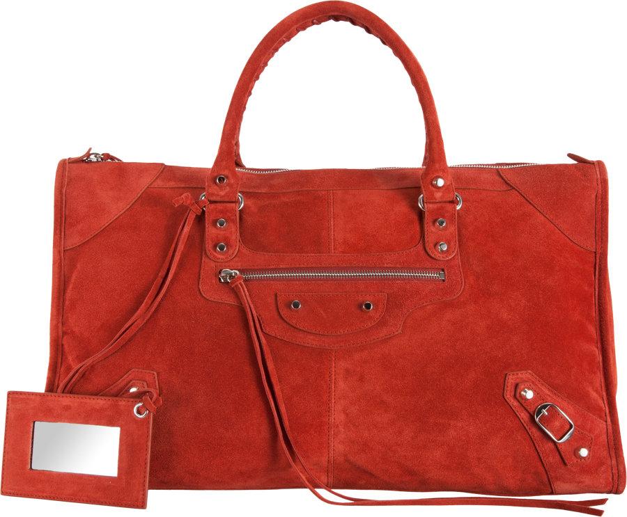Balenciaga Baby Daim Classic Work in Red