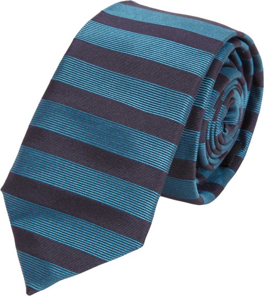 burberry prorsum horizontal stripe tie in blue for