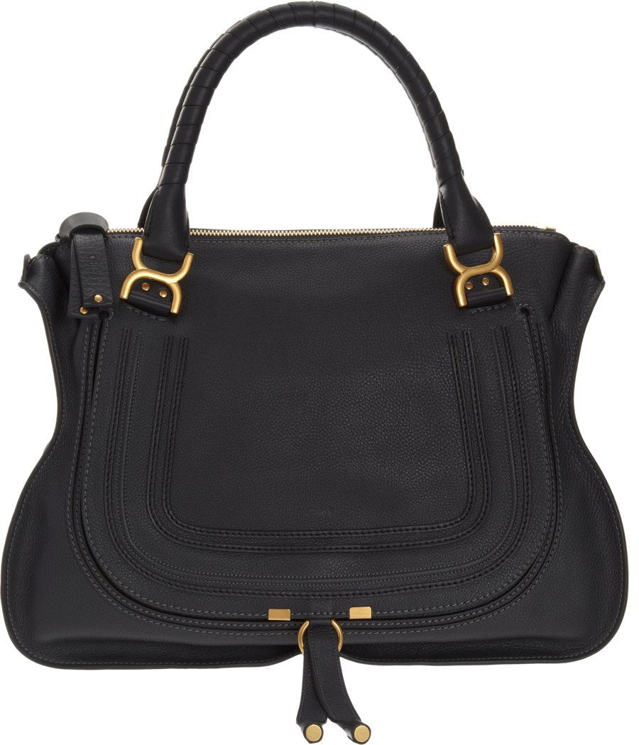 chlo marcie large satchel in black lyst. Black Bedroom Furniture Sets. Home Design Ideas