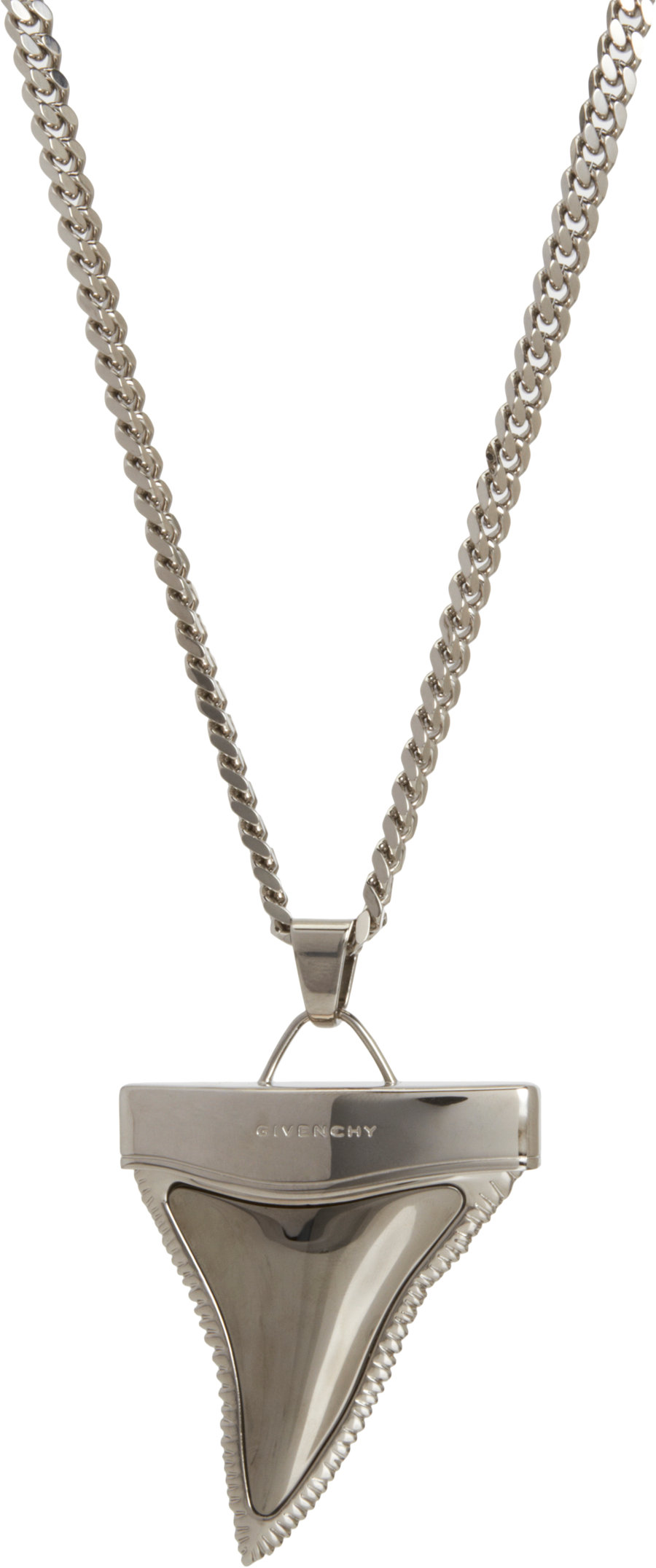 givenchy ruthenium palladium medium shark tooth pendant