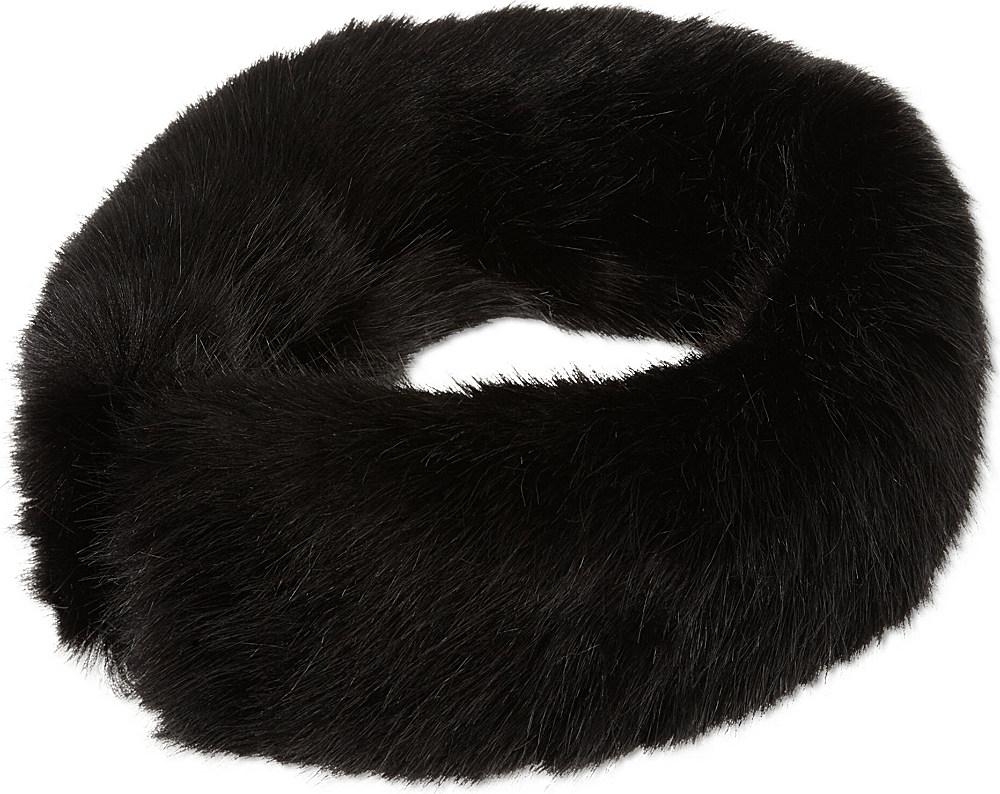 Helen Moore Faux Fur Headband in Black - Lyst a3725c0a4465