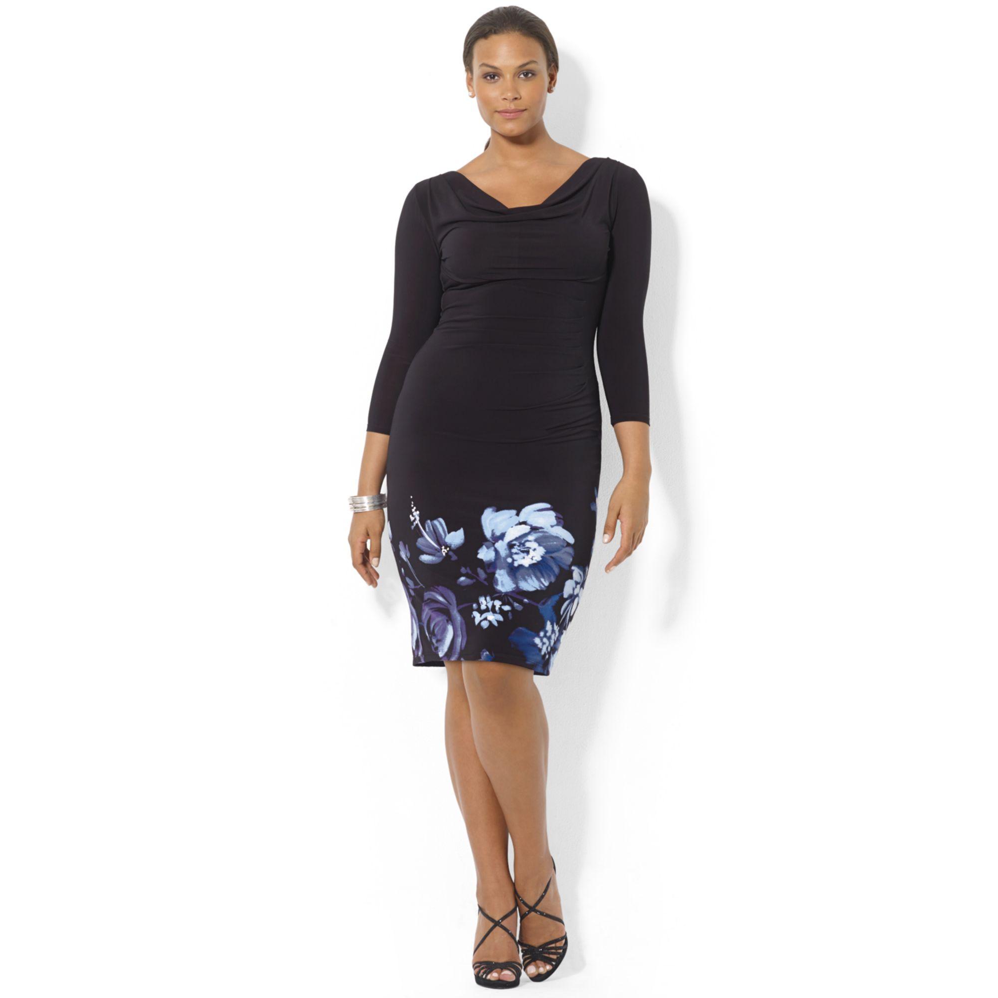 Lauren by ralph lauren Plus Size Long Sleeve Floral Print ...